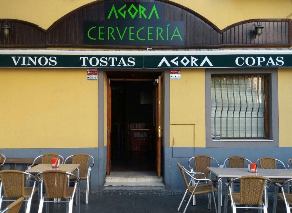 Puerta cervecería Ágora